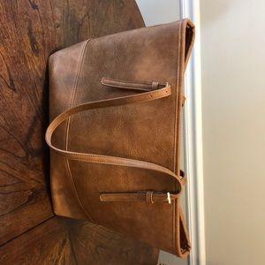 Brown Leather Urban Expressions Handbag